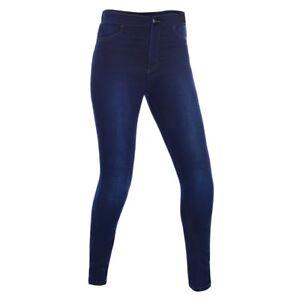 Oxford Super Jeggings Womens Ladies Fully Aramid Lined Motorcycle Leggings Blue