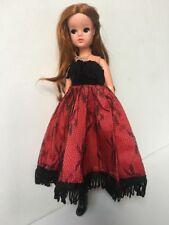 SALE red black lace Faerie Glen dress boots fit Sindy doll clothes SHIMMYSHIM