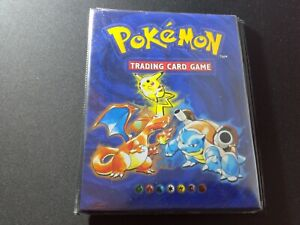 Small Pokemon VINTAGE Binder- 4 cards by sheet- Pokemon Cards-