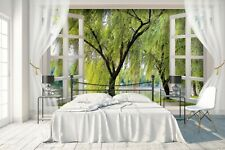 3D Spring Willow 883RAIG Wallpaper Mural Self-adhesive Removable Sticker Amy
