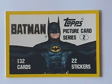 """1989 Topps BATMAN 89 cards series 2 blue back 132 cards 22 stickers 3.5 x 2.5"""""""