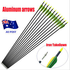 "10x 32"" EXTRA HEAVY DUTY ALUMINIUM ARROWS FOR COMPOUND AND RECURVE BOW ARCHERY B"