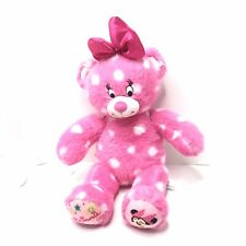 Build A Bear Plush Minne Mouse Pink Polka Dots Head Bow Winking Excellent