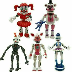 UK Five Nights at Freddy's Sister Location Figures Baby FNAF Toys 5PCS Gifts HOT