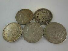 1800's Us Morgan Silver Dollars - Lot of 5 Coins - No Reserve!