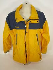 Mens Columbia Ski Snowboard Jacket Coat Shell Medium M Yellow Blue