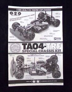 **  TAMIYA 49278 TA04-TRF Special Chassis Kit Instruction Manual 2003 **