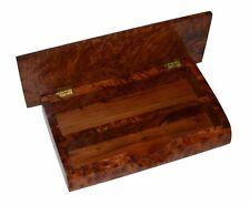 Moroccan Wood Box Handmade Inlaid Thuya Thuja Burl Pen&Pencil Organizer Desk Top