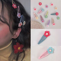 Fashion Women Color Hair Snap Girl Clip Kid Hairpin Flower Barrette Gift Jewelry