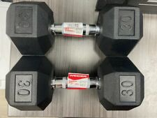 Weider Hex Rubber 30 lb Dumbbell Weight Set  ( 60 lbs Total ) NEW - IN STOCK!