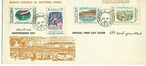 Southern Yemen Independence Day Illustrated First Day Cover Aden 1968 Unadressed