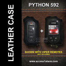 Python 592 Protective Leather Remote Control Case For Both Remote Controls