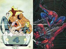 AMAZING SPIDER-MAN VS DEADPOOL POSTER FANTASTIC FOUR SKOTTIE YOUNG MARVEL 24 46