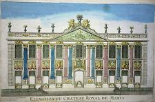 ELEVATION CHATEAU ROYAL MARLY Gravure VUE OPTIQUE Francois Blondel XVIII°