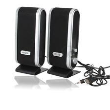 USB 3.5mm Jack Speakers Stereo Music Player Speaker For Desktop Notebook US Ship