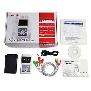 CONTEC 3 Channel ECG/EKG Holter Monitor Heart Cardiology Analyzer PC SW TLC9803