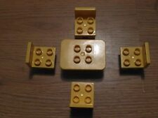 Lego Duplo - 4 Chairs and 1 Table in Yellow - GMT61