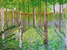 """Gemälde """" Taiga """" von der Künstlerin Hilde Ament  Art Painting"""