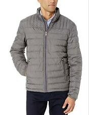 Tommy Hilfiger Men's Cement Gray Packable Down Puffer Jacket $195