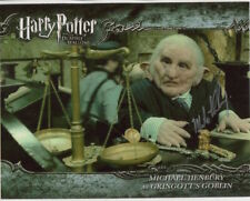 Michael Henbury Photo Signed In Person - Goblin in Harry Potter - D857