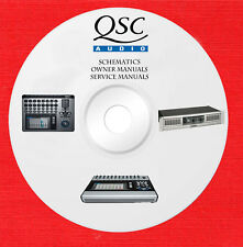 Qsc Audio Repair Service owner manuals on 1 dvd in pdf format