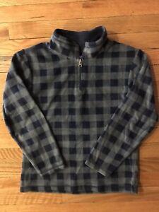 The Childrens Place Fleece Half Zip Pullover-Boys Size Medium 10/12 Grey Blue