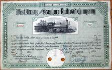 West Jersey & Seashore Railroad 1955 Stock Certificate - Camden, New Jersey NJ