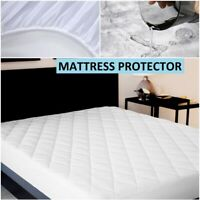 WATERPROOF QUILTED MATTRESS PROTECTOR COVER FITTED BED SHEET SMALL DOUBLE KING