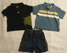 GYMBOREE 3-6 Month Stunt Man Blue Shirt Super Hero Shorts Navy Polo Outfit NWT