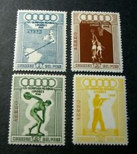 Peru Stamp Scott#  C78-C81 Olympic Games 1948  MNH  C521