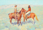 Frederic Remington Casuals On The Range Painting Fine Art Gilee Print Canvas SM