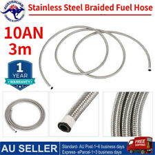 AN10 -10AN Fitting Stainless Steel Nylon Braided Oil Fuel Hose Line 3Meters Kit
