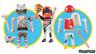 Playmobil 9854 Figur 3 in 1 Rennfahrer Urzeitmensch Maler Neuware / New