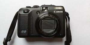 Canon PowerShot G12 10MP Digitalkamera - Schwarz