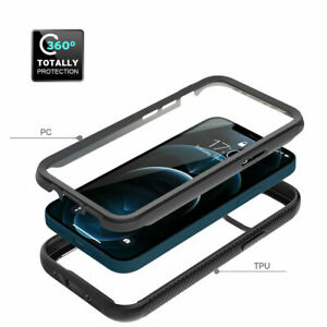 Full Body Clear Hybrid Shockproof Case Cover For iPhone 12 11 Pro Max SE 7 8 XR.