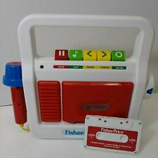 Fisher Price Cassette Player Recorder + One Tape with Microphone Works 2017