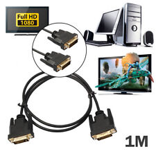 DVI Cable 1M Dual Link DVI-D to DVI-D Cable Gold Plated Lead for HDTV PC Monitor