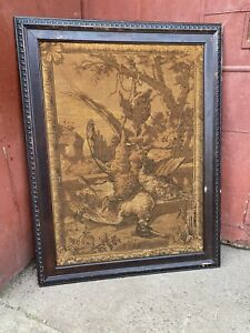 1900s Duck Quail Hunting Framed Tapestry Country Yellow Pine Primitive Hunting
