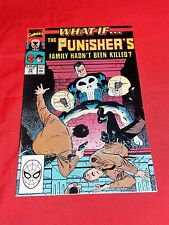 WHAT IF... # 10 - THE PUNISHER'S FAMILY HADN'T BEEN KILLED?  MARVEL VOL 2 FEB 90