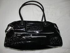FCUK Ladies Handbag - Black Patent - EXCELLENT CONDITION