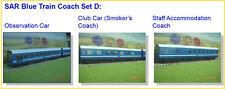 South African Blue Train : Set D (Observation , Club Car , Staff Accomodation)