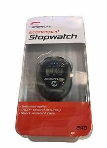 ELECTRONIC STOPWATCH SPLITS Timer Sprints Race Relay Clinic Stop Watch FAB240