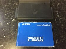Mitsubishi L200 Owners Manual and Wallet 96 -