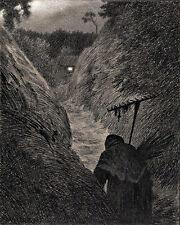 The Plague Creeps Theodor Kittelsen  Wall Art  Canvas