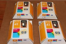 SET OF 4 GENUINE HP TRI-COLOR INK CARTRIDGES/51641A SEALED.  DATE OF EXP 09/2003