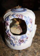 Vintage Schmid Ceramic Bird House Music Box Birds Feeds the Birds - Lotl