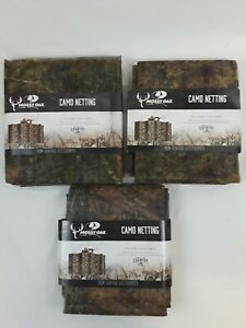 "Lot of 3 Mossy Oak Camo Netting Blind Material Hunting Deer 12' L x 56"" H"