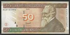 Lithuania P-67 50 Litu 2003 Unc CV $65