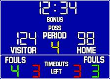 ScoreBoards.com BB-1630-LED LED Basketball Hybrid Scoreboard (5' x 9')