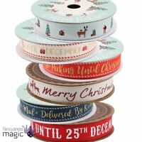 New Cotton Printed Ribbon Gift Present Wrap Christmas Xmas Decoration Crafts 5m